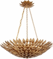 Crystorama 517-GA Broche Antique Gold Pendant Lighting