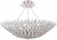 Crystorama 517-MT-CEILING Broche Matte White Flush Mount Light Fixture