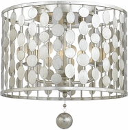 Crystorama 544-SA Layla Contemporary Antique Silver Ceiling Lighting Fixture
