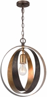Crystorama 580-EB-GA Luna English Bronze / Antique Gold Pendant Hanging Light