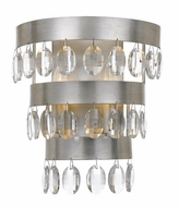 Crystorama 6102-SA Perla Antique Silver Wall Lamp