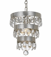Crystorama 6103-SA Perla Antique Silver Mini Chandelier Lamp
