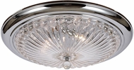 Crystorama 63-CH Celina Polished Chrome Flush Ceiling Light Fixture