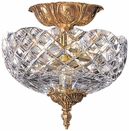 Crystorama 66-CT-OB Olde Brass Flush Mount Ceiling Light Fixture