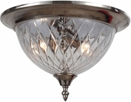 Crystorama 69-CH-CL Polished Chrome Overhead Light Fixture