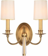 Crystorama 8702-AG Lawson Aged Brass Wall Sconce Lighting