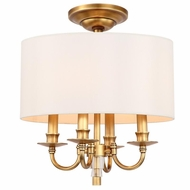 Crystorama 8704-AG-CEILING Lawson Aged Brass Flush Mount Ceiling Light Fixture