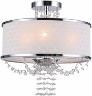 Crystorama 9804-CH-CEILING Allure Polished Chrome Flush Mount Light Fixture