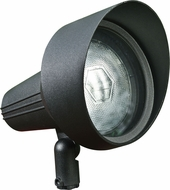 Dabmar DPR40-HOOD-B Black Outdoor Directional Spot Light with Hood