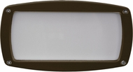Dabmar DSL1016-BZ Contemporary Bronze Outdoor Recessed Open Face Step Lighting Fixture