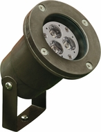 Dabmar FG-LED408-BZ Contemporary Bronze LED Outdoor Fiberglass Directional Spot Light with U-Bracket