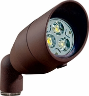 Dabmar LV-LED190-BZ Contemporary Bronze LED Outdoor Cast Aluminum Directional Spot Light with Hood