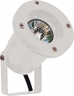 Dabmar LV108-W Modern White Halogen Exterior Cast Aluminum Directional Spot Lighting