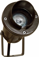 Dabmar LV109-BZ Modern Bronze Halogen Exterior Cast Aluminum Directional Spot Light with Hood