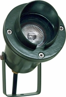 Dabmar LV109-G Contemporary Green Halogen Outdoor Cast Aluminum Directional Spotlight with Hood