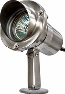 Dabmar LV11 Contemporary Stainless Steel Halogen Outdoor Spot Light with Hood
