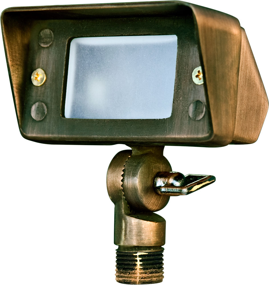Dabmar Lv116 Wbs Contemporary Weathered Brass Halogen