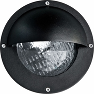 Dabmar LV609-B Contemporary Black Halogen Outdoor Recessed Step Light Fixture with Eyelid