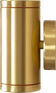 Dabmar LV65-BS Contemporary Brass Halogen Exterior Surface Mount Wall Sconce