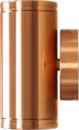 Dabmar LV65-CP Modern Copper Halogen Outdoor Surface Mount Wall Lamp