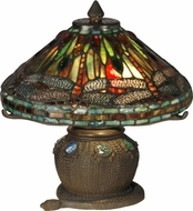Dale Tiffany 101205 Dragonfly Tiffany Antique Bronze Side Table Lamp
