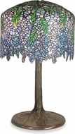 Dale Tiffany 1037-184 Wisteria Tree Tiffany Antique Verde Table Lamp Lighting