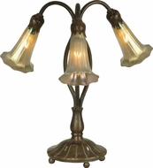 Dale Tiffany 1704-237 Gold Lily Antique Bronze / Verde Table Top Lamp