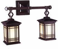 Dale Tiffany 2604-2LMW Avery Craftsman Antique Bronze Wall Sconce