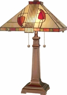 Dale Tiffany 2721-739 Henderson Tiffany Antique Bronze Table Lamp