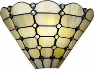 Dale Tiffany 7411-1LTW Beige Geometric Tiffany Wall Lamp