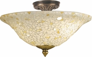 Dale Tiffany 8565-3LTF Blake Jeweled Tiffany Antique Brass Ceiling Light Fixture