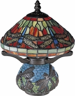 Dale Tiffany 8774 Red Dragonfly Antique Bronze Table Lamp Lighting