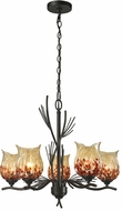 Dale Tiffany AH14306 Spotted Owl Contemporary Dark Bronze Lighting Chandelier