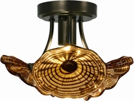 Dale Tiffany AH15481LED Burnt Sienna Modern Copper Bronze LED Ceiling Lighting Fixture