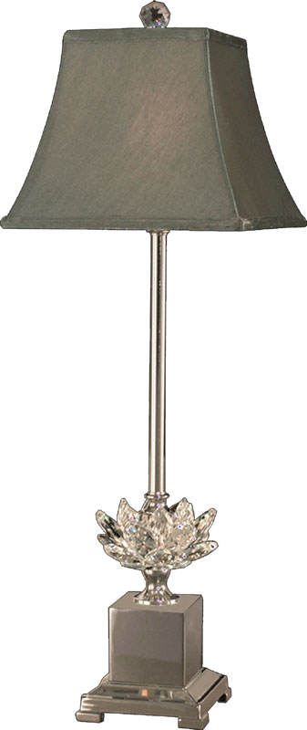 dale tiffany gb11208 lucinda polished nickel buffet lamp. Black Bedroom Furniture Sets. Home Design Ideas