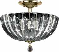 Dale Tiffany GH11233PB Sereno Polished Brass Flush Mount Lighting Fixture