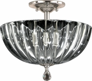 Dale Tiffany GH11233SN Sereno Satin Nickel Flush Ceiling Light Fixture