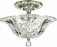 Dale Tiffany GH11234PC Angelino Polished Chrome Flush Mount Lighting