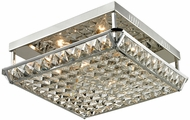 Dale Tiffany GH13342 Ibiza Polished Chrome Flush Mount Lighting Fixture