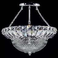 Dale Tiffany GH13385 Crystal Hills Polished Chrome Flush Ceiling Light Fixture