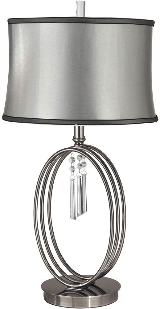 Dale Tiffany Gt13255 Halo Ring Antique Nickel Side Table