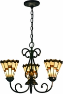 Dale Tiffany STH15097LED Jerome Tiffany Tiffany Bronze LED Mini Chandelier Lamp