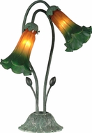 Dale Tiffany TA10808 Auratum Lily Contemporary Antique Verde Lighting Table Lamp