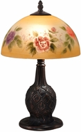 Dale Tiffany TA15007 Roses Antique Golden Bronze Accent Lighting