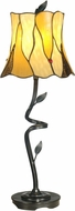 Dale Tiffany TB11030 Twisted Leaf Tiffany Antique Bronze Buffet Table Lamp