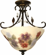 Dale Tiffany TH10492 Cosmos Antique Golden Sand Flush Ceiling Light Fixture