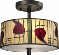Dale Tiffany TH12322 Macintosh Tiffany Dark Bronze Ceiling Light