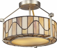 Dale Tiffany TH12416 Sandfield Tiffany Satin Nickel Flush Lighting