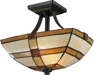 Dale Tiffany TH12455 Brisdol Tiffany Dark Bronze Overhead Lighting