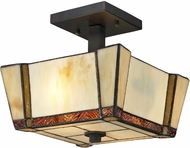 Dale Tiffany TH12457 Paragon Tiffany Dark Bronze Flush Mount Lighting Fixture
